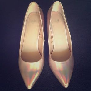H&M pink holographic heels size 8.5/40